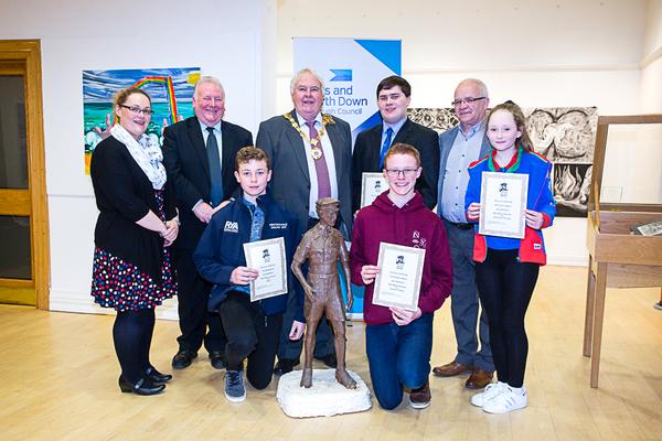 Bursary winners with Deputy Mayor