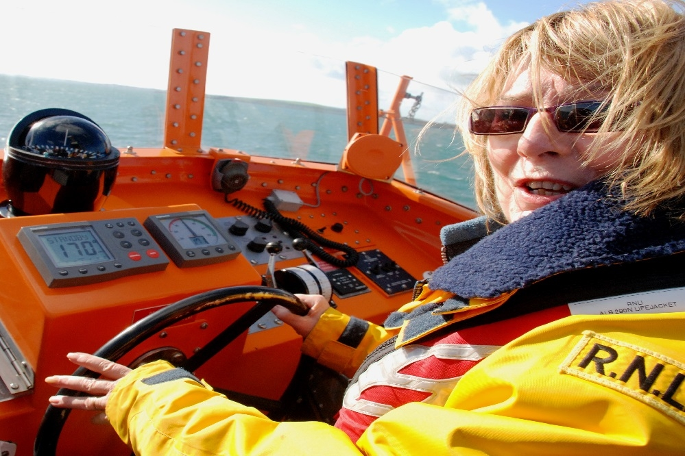 Mayor Girvan on RNLI lifeboat