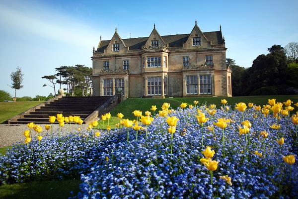 Bangor Castle in Spring