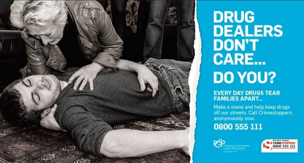 Drug dealers don't care...Do you? campaign poster