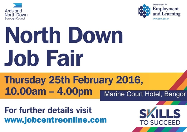 This image refers to the Jobs Fair in Bangor on 25 February 2016
